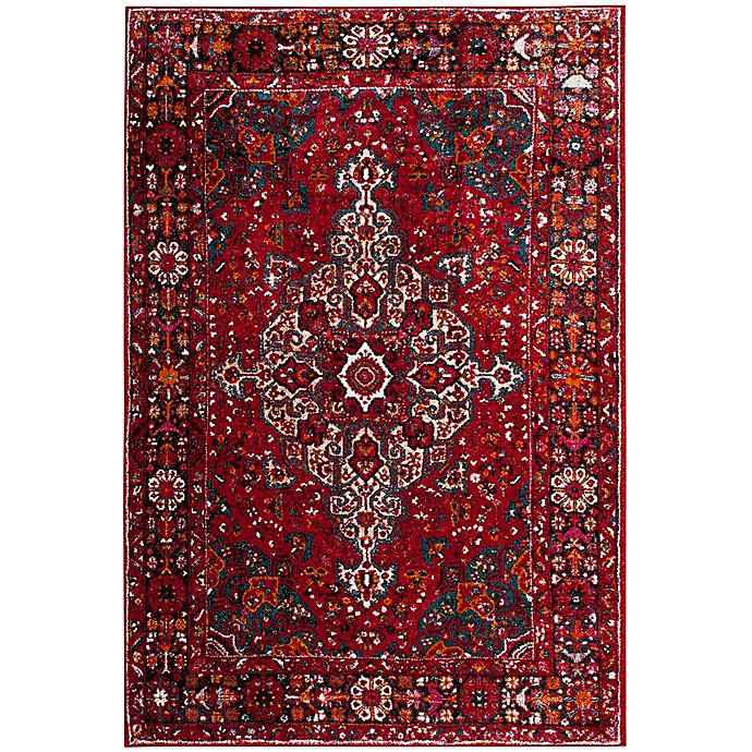 Alternate image 1 for Safavieh Vintage Hamadan 5-Foot 3-Inch x 7-Foot 6-Inch Amir Rug in Red