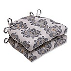 Pillow Perfect Suri Medallion Chair Pads in Grey (Set of 2)