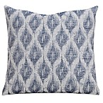 SIScovers® Diamond Creek 16-Inch Square Throw Pillow in Blue/Off White
