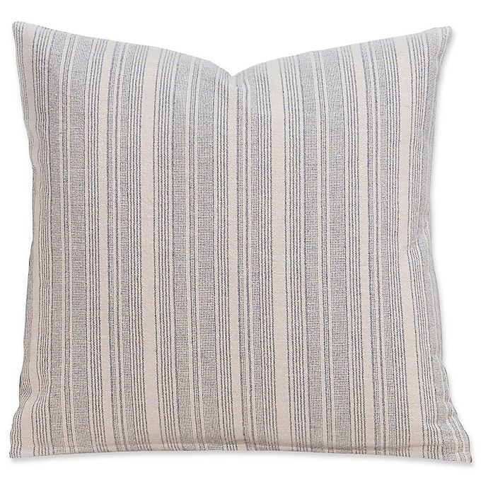 Alternate image 1 for SIScovers® Cottage 20-Inch Square Throw Pillow in Beige/Grey