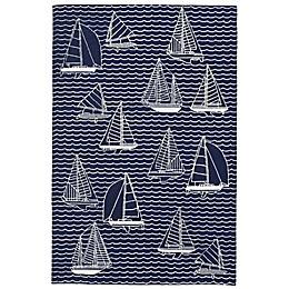 Liora Manne Sails Indoor/Outdoor Rug in Navy