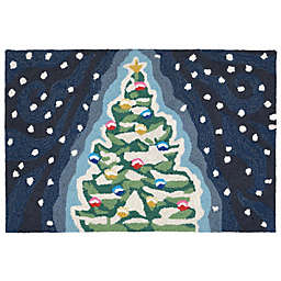 Liora Manne Midnight Christmas Tree Indoor/Outdoor Accent Rug