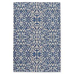 Weave & Wander Carini Scroll Print Textured Area Rug