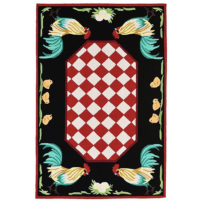 Alternate image 1 for Liora Manne Rooster Indoor/Outdoor Rug in Red