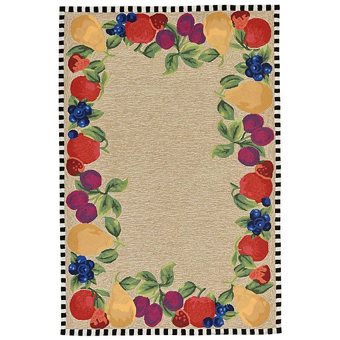 Alternate image 1 for Liora Manne Fruits 5-Foot x 7-Foot 6-Inch Indoor/Outdoor Area Rug