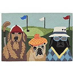 Liora Manne Putts Mutts Indoor/Outdoor Multicolor Accent Rug