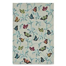 Liora Manne Butterflies on Tree Indoor/Outdoor Rug in Green