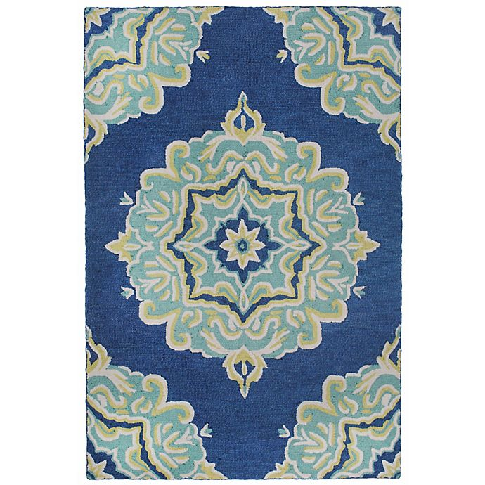 Alternate image 1 for Liora Manne Lalunita Medallion 5-Foot x 8-Foot Area Rug in Navy