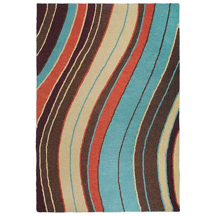 Alternate image 1 for Liora Manne Lalunita Wave 3-Foot 6-Inch x 5-Foot 6-Inch Multicolor Area Rug