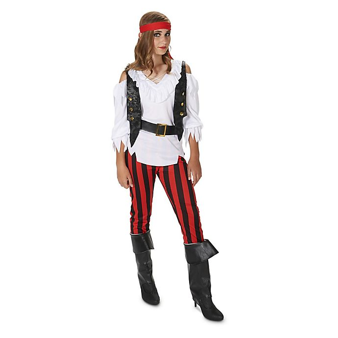 Alternate image 1 for Rebel Pirate Girl Teen Halloween Costume
