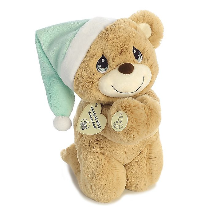 Alternate image 1 for Aurora® Precious Moments® 10-Inch Charlie Prayer Bear in Light Brown