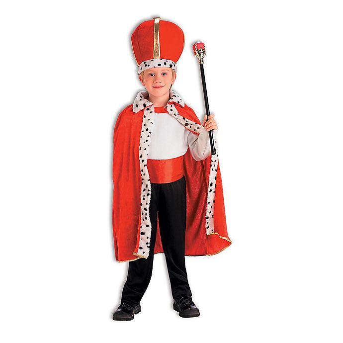 Alternate image 1 for King Robe and Crown Child's Halloween Costume in Red