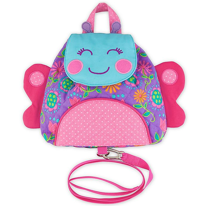 Alternate image 1 for Stephen Joseph® Butterfly Little Buddy Bag with Safety Harness