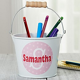 Just Me Personalized Mini Metal Bucket in White