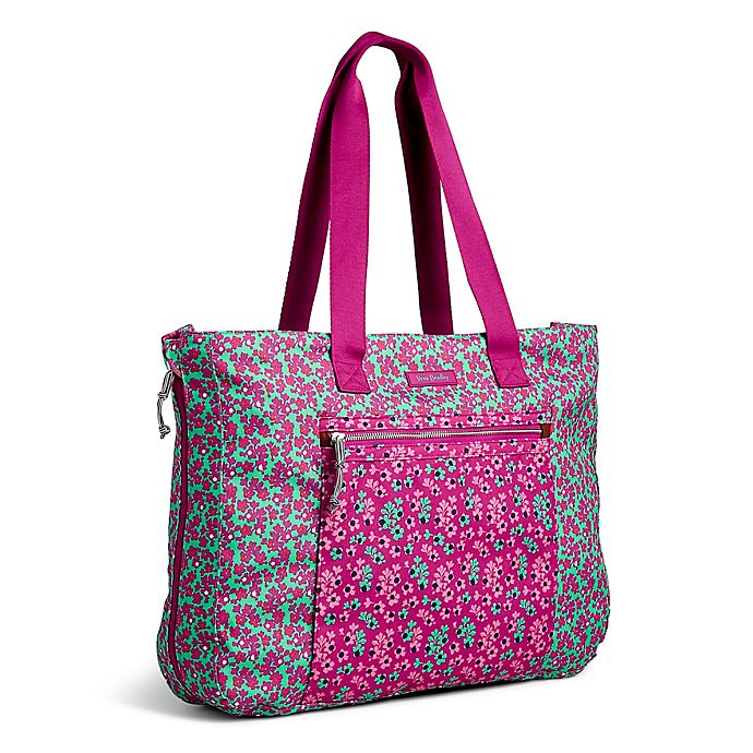 Vera Bradley® Lighten Up Expandable Tote in Ditsy Dot Print 2a5f9fd021d55