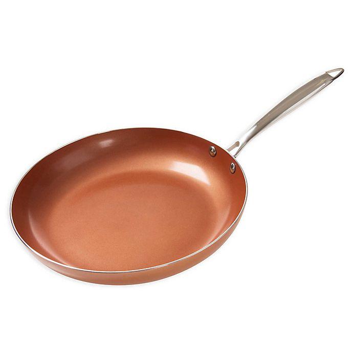 Classic Cuisine Aluminum Nonstick Copper Frying Pan Bed