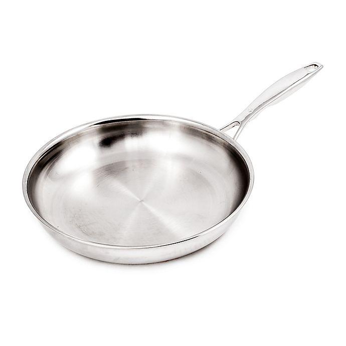 Alternate image 1 for Swiss Diamond® Premium Clad 9.5-Inch Stainless Steel Fry Pan