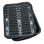 Range Kleen® Heavy-Duty Porcelain Full Size Broiler Pans in Black