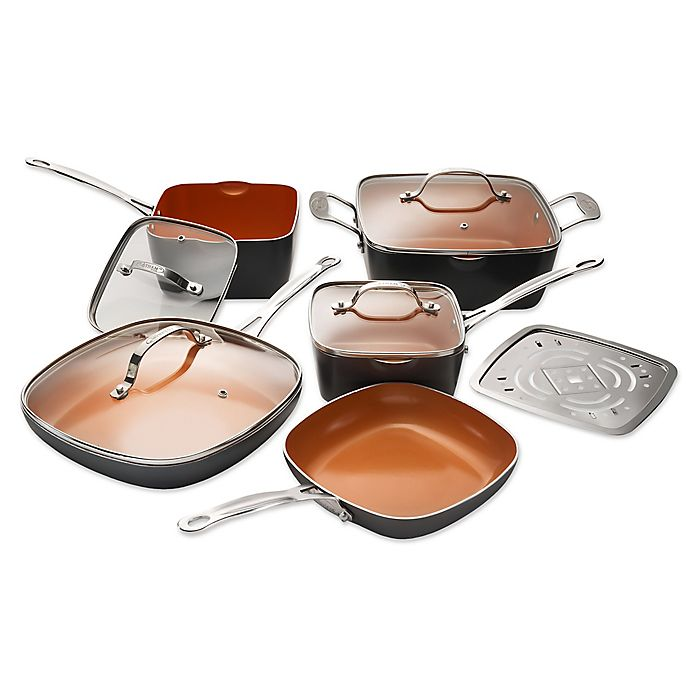 Alternate image 1 for Gotham® Steel Ti-Cerama™ Nonstick 10-Piece Square Cookware Set