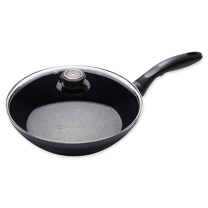 Alternate image 1 for Swiss Diamond® Induction EDGE Nonstick 10.25-Inch Covered Stir Fry Pan