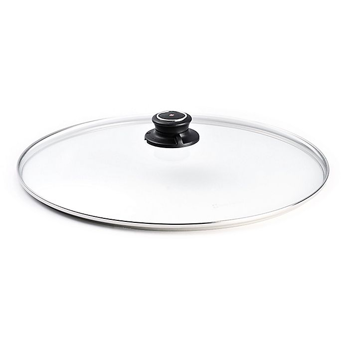 Alternate image 1 for Swiss Diamond® 14-Inch Tempered Glass Lid with Vented Steam Knob