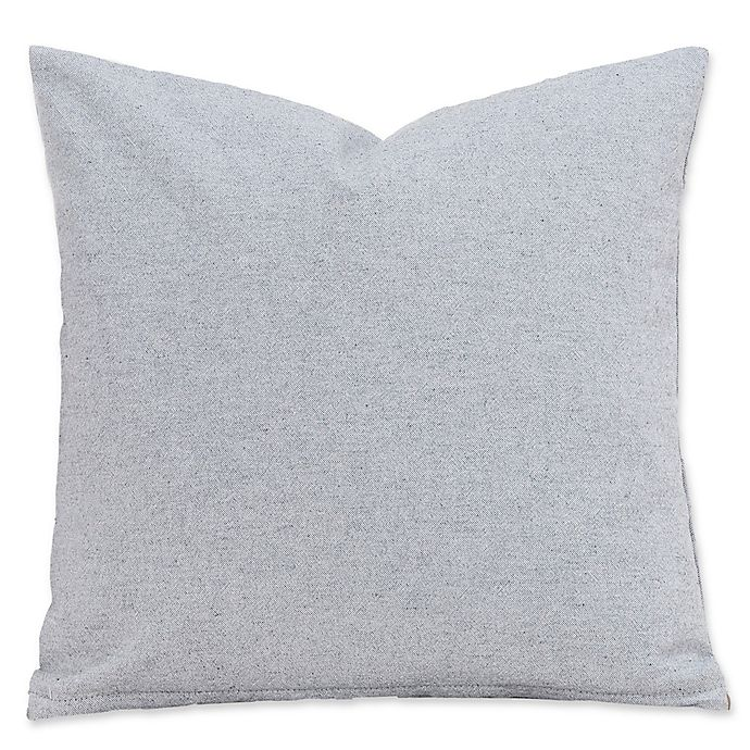 Alternate image 1 for SIScovers® Harvest 20-Inch Square Throw Pillow in Grey/White