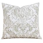 Parlour Drift 20-Inch Square Throw Pillow in Tan/Off White