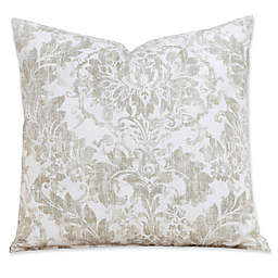 Parlour Drift Square Throw Pillow Collection in Tan/Off White