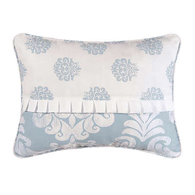 Providence Chambray Oblong Throw Pillow in Blue/White