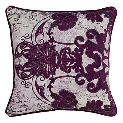 Villa Home Leila Square Throw Pillow in Plum