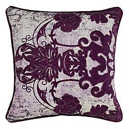 Villa Home Leila Square Throw Pillow in Plum
