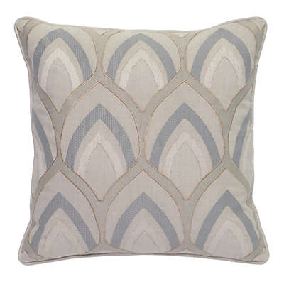 Villa Home Hollis Square Throw Pillow in Storm