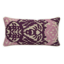 Villa Home Rena Oblong Throw Pillow in Plum