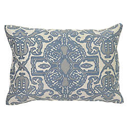 Villa Home Pearle Oblong Throw Pillow in Blue