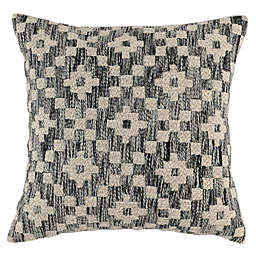 Villa Home Perot Square Throw Pillow in Navy