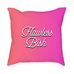 "Broad City ""Flawless Bish"" Square Throw Pillow in Pink"