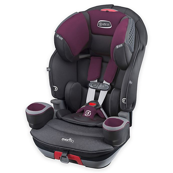 Alternate image 1 for Evenflo® SafeMax™ 3-in-1 Combination Booster Seat in Purple Berry