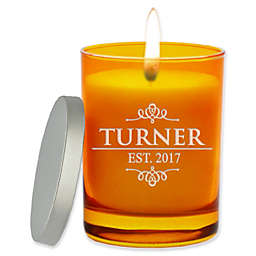 Carved Solutions Gem Collection Turner Soy Wax Candle in Glass Vessel in Topaz