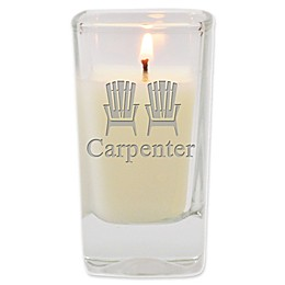 Carved Solutions Adirondack Chairs Unscented Soy Wax Glass Votive Candle