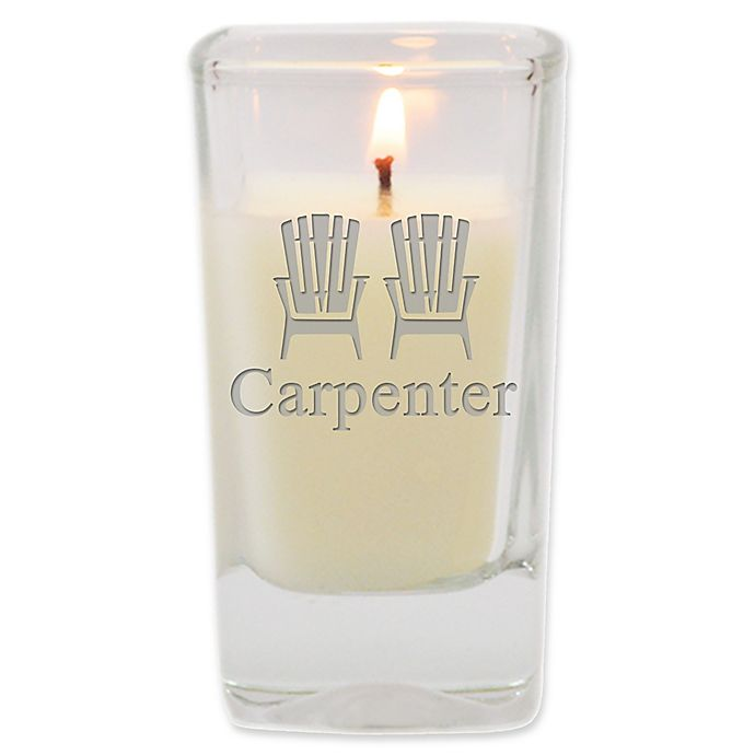 Alternate image 1 for Carved Solutions Adirondack Chairs Unscented Soy Wax Glass Votive Candle