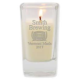 Carved Solutions Brewery Unscented Soy Wax Glass Votive Candle