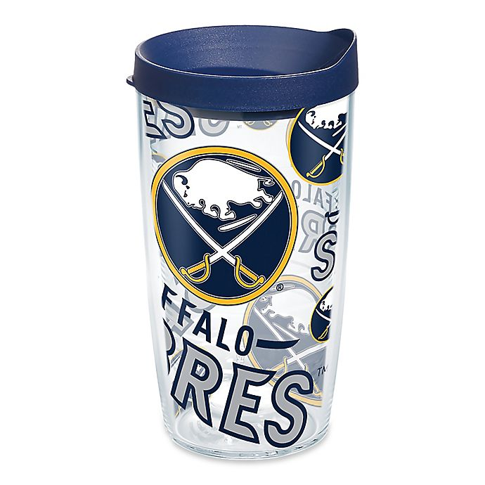 Alternate image 1 for Tervis® NHL Buffalo Sabres 16 oz. Allover Wrap Tumbler with Lid