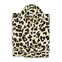 Linum Home Textiles Super Plush Bathrobe in Leopard