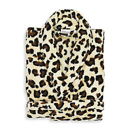 Linum Home Textiles Small/Medium Super Plush Bathrobe in Leopard