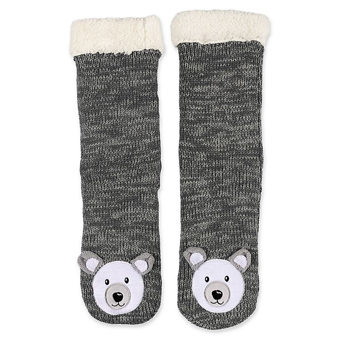 Alternate image 1 for ED Ellen DeGeneres Sherpa-Lined Bear Slippers