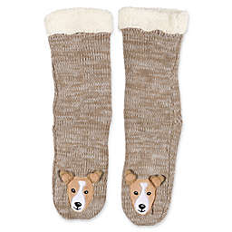 ED Ellen DeGeneres Sherpa-Lined Dog Slippers