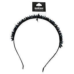 Karina French Couture Hematite Headband