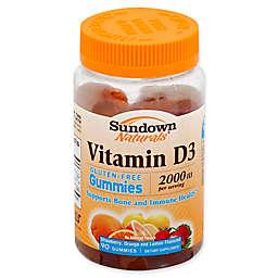 Sundown Naturals® 90-Count 2000 IU Vitamin D3 Strawberry, Orange and Lemon Gummies