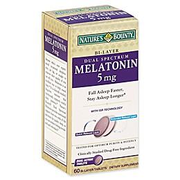 Nature's Bounty® 60-Count 5mg Dual Spectrum Melatonin Bi-Layer Tablets