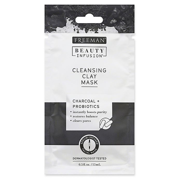 Alternate image 1 for Freeman® Beauty Infusion .5 fl. oz. Charcoal + Probiotics Cleansing Clay Facial Mask